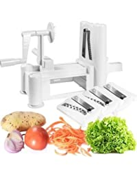 Get Kitchenero Top Quality Best Tri-blade Vegetable Slicer Spiralizer. Superior stainless steel blades. saleoff