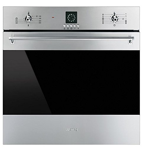 "Price comparison product image Smeg SF399XU 24"" Classic Electric Multifunction Oven with 10 Cooking Modes,  Stainless Steel"