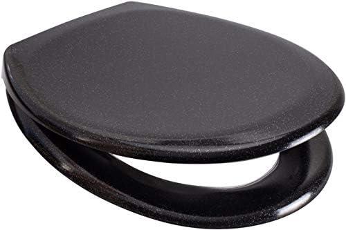 Paillettes Noir Abattant WC One Button Release Soft Close Top//Bottom Fix