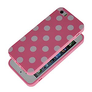 GETLAST [Pink] Multicolor Dot Pattern Silicone Soft Case Cover For Apple iPhone 5 5G 5S