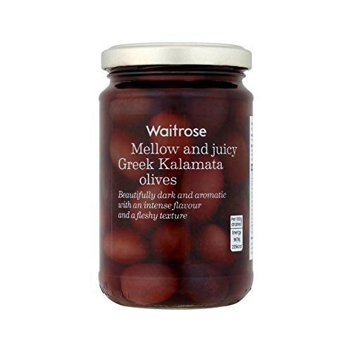 Whole Kalamata Greek Olives Waitrose 300g - Pack of 4 by WAITROSE