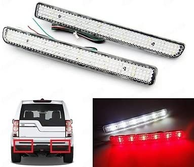 Reflector PARACHOQUES TRASERO NEGRO LENTE LED luz de freno de parada de cola lámparas Land Rover Rojo