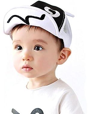 Kids Summer Mesh Soft Brim Flanging Sun Protect Hat Baseball Cap