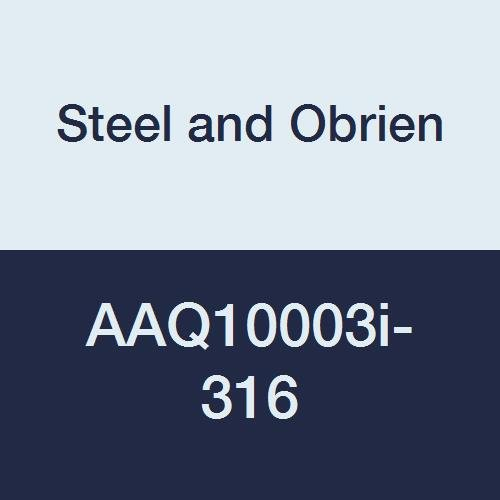 10 x 7//8 OAL Steel and Obrien AAQ10003i-316 Stainless Steel 14WMP Short Welding Ferrule 10 x 7//8 OAL .135 Wall .135 Wall