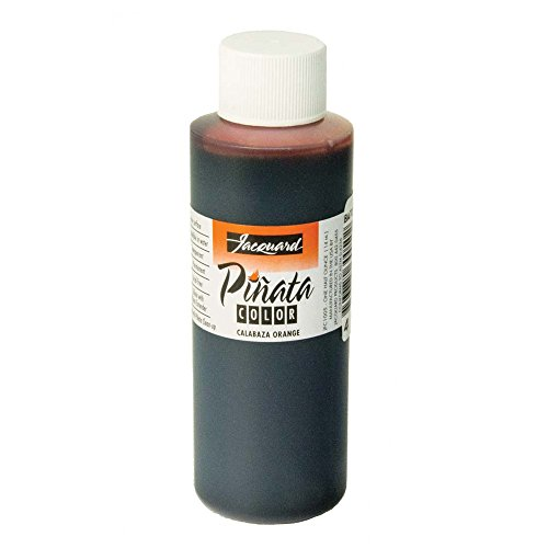 Pinata Calabza Orange Alcohol Ink that by Jacquard, Professional and Versatile Ink that Produces Color-Saturated and Acid-Free Results, 4 Fluid Ounces, Made in the USA by Jacquard