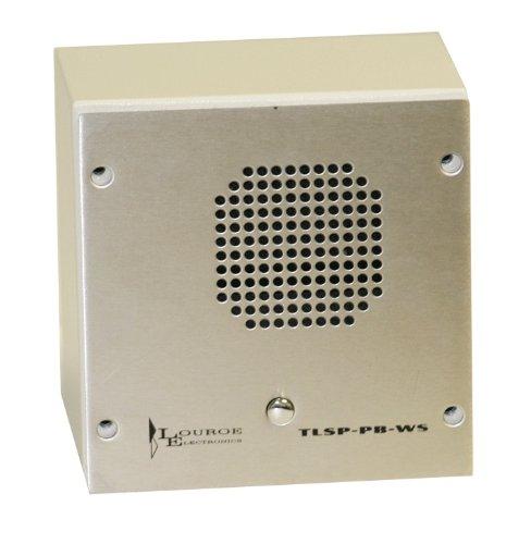 LE-096 Louroe Electronics Vandal Resistant Speaker Microphone w/Pushbutton/Wall Surface Mount