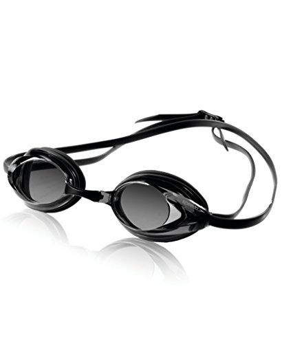 Speedo Vanquisher Optical Swim Goggle, White, Diopter -7.0