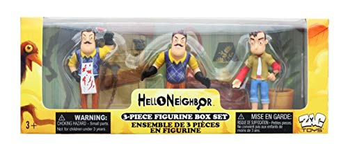 Hello Neighbor 3-piece Figurine Box Set Series One - Complete Playset of 3 Toy Figures