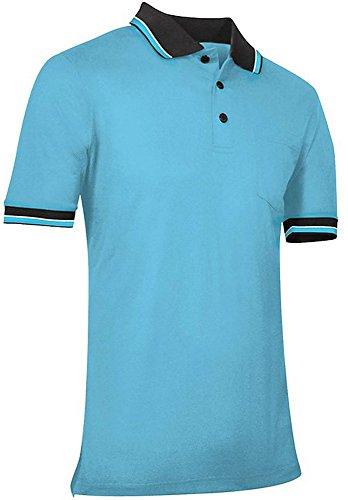CHAMPRO Umpire Polo Shirt; Adult Light Blue, Small