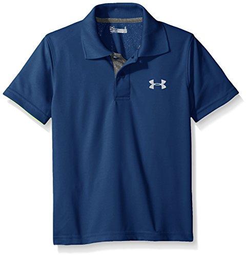 Under Armour Little Boys' UA Logo Short Sleeve Polo, Blackout Navy, - Kids Store Polo