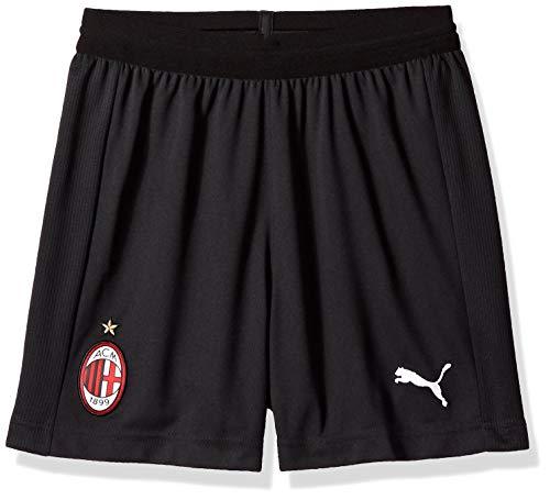 Puma AC Milan Soccer Shorts Replica Kids Without Innner Slip, Black White