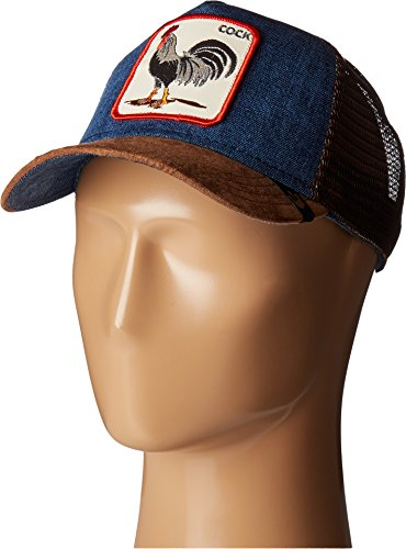 Goorin Bros. Men's Animal Farm Snap Back Trucker Hat, Brown/Denim Rooster One Size -