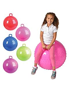 Amazon Com 36 Quot Knobby Bouncy Ball With Handle Colors May