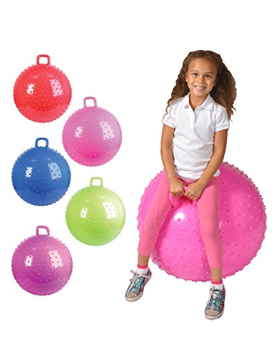 "36"" Knobby Bouncy Ball with Handle (Colors may vary)"