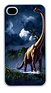 IPhone 4S Cases Brachiosaurus Dinosaur Polycarbonate Hard Case Back Cover for iPhone 4/4S White