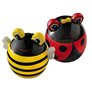 Grasslands Road Out On A Whim Ladybug & Bee Salt & Pepper Shakers