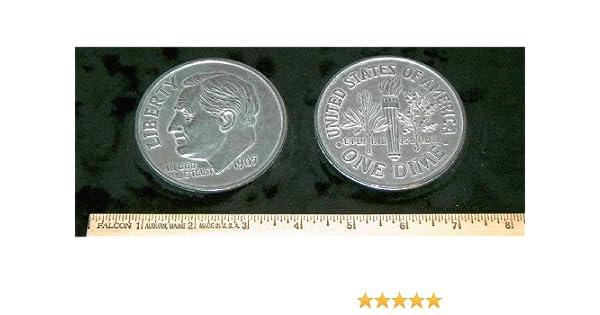 Replica 1965 Roosevelt Dime Big Huge Large 3 Metal Coin