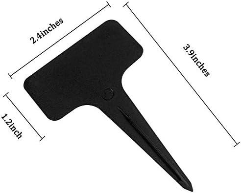 1mm Viridis Hortus Nib Permanent Marker Pen 200 x 6 Black Plastic PlantT Labels 150 x 55 x 35 with 1 x Fine White