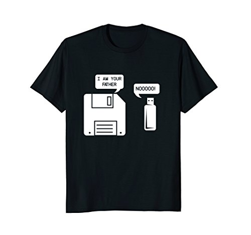 Mens USB Floppy Disk I am Your Father T-shirt, Geek Gifts Tshirt Large Black