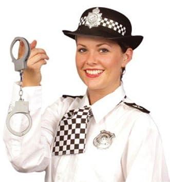 Police woman Hen Party HandCuffs Hat Fancy Dress Epaulettes Truncheon Stag Hen