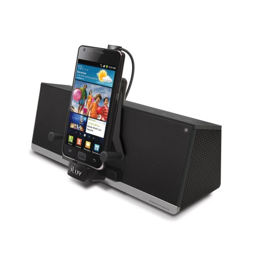 Iluv Ipod Stereo Docking - iLuv MobiDock 3.5mm Aux Stereo Speaker Dock with Micro-USB Charging
