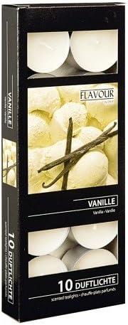 Bougies veilleuses parfum/ées Bo/îte de 10 Vanille