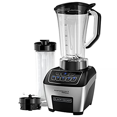 BLACK+DECKER BL6005 Performance Fusion Blade Blending System with Adjustable Control, Black/Stainless Steel