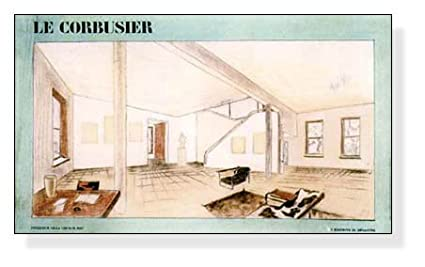 le corbusier poster interieur villa church 1927