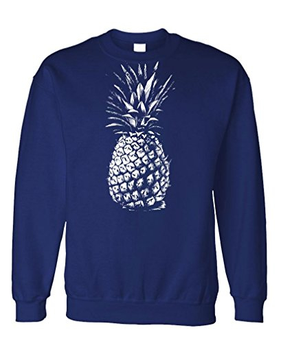 The Goozler - Huge Old Pineapple - Express Food Fruit - Fleece Sweatshirt, L, Navy ()