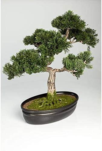 Artplants De Artificial Bonsai Cedar In Decorative Planter 230 Little Branches Twigs 16 40cm Bonsai Replica Plastic Bonsai Amazon Co Uk Kitchen Home