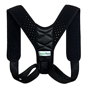 Best posture corrector brace for men, women | Slumped, slouched shoulder fixer, straight back trainer | Lumbar support, relieve pain, improve posture | Alignment, clavicle device | Beanstalk Fitness