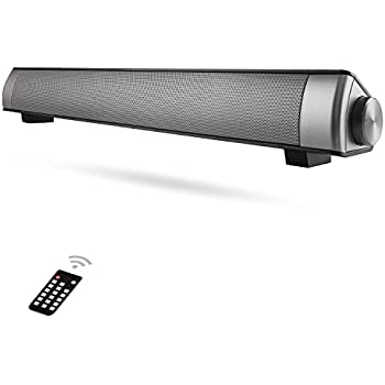 Sound Bar [2018 Upgraded] Soundbar Wired and Wireless Bluetooth Home Theater TV Speaker, AwesomeWare Surround Sound Bar for TV, PC, Cellphone-Sound Bar Bluetooth Wireless with TF Card.
