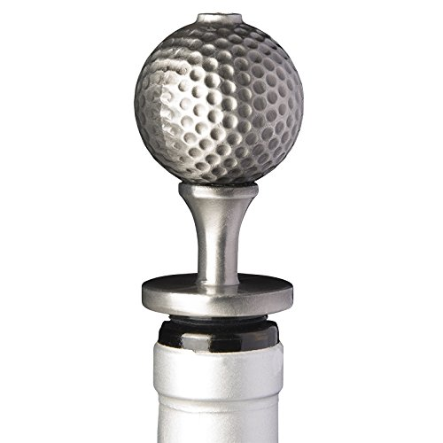 Stainless Steel Golf Ball Wine Aerator Pourer - Deluxe Decanter Spout for Robust Red and White Wine - Pour Amore Bottle Pourer/Stopper & Air Diffuser by Chris's Stuff