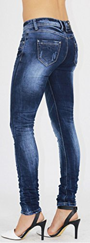 Bund Normale Stretch Casual Damen elastische Denimhose dnne Frauen Denim Jeanshose Beautisun Denim Stretch Slim Jeans Hose Blau F Fit e awcZqx4xpC