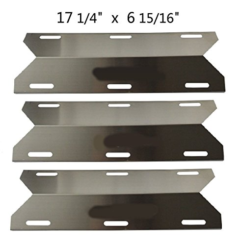 Sterling Grill Parts - BBQ Energy Stainless Steel Replacement Heat Plate BBQ Gas Grill Heat Shield 91241 (3-pack) for Charmglow, Costco Kirkland, Nexgrill, Sterling Forge, Lowes Model Grills