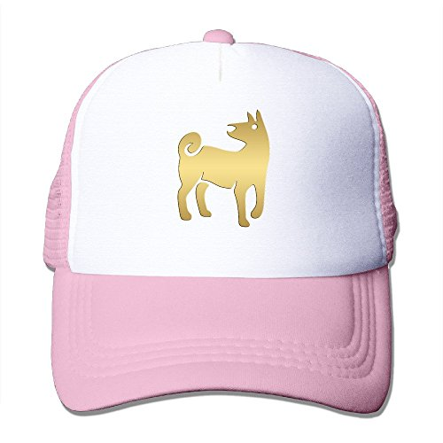 Men's Chinese Zodiac Golden Animals Dog Baseball Ball Pratical Mesh Sport Hat Pink (Golden Cotton Tiger Uniform)