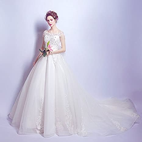 cf69c9e8d5440 S C Live 「Wedding dress」ウェディングドレス 2017新作 トレーン オフショルダー 豪華レース&