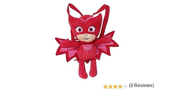 CYP- Peluche Mochila PJ Masks 3D Buhita, Color Rojo (102MCPJ ...