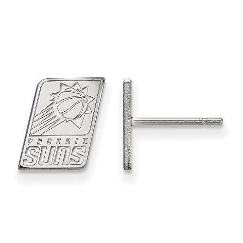 NBA Phoenix Suns X-Small Post Earrings in 10K White Gold by LogoArt
