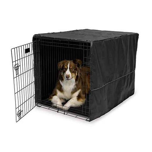 Midwest Quiet Time Pet Crate Cover Black 43'' x 30'' x 30''