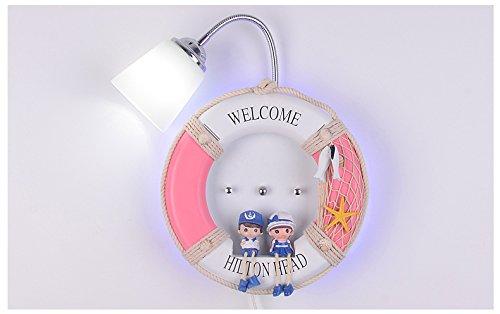 Chen Moderne Kinderzimmer Junge Mädchen Nachttisch Schlafzimmer Lampe kreative Licht Wandleuchte (Farbe : Grau)