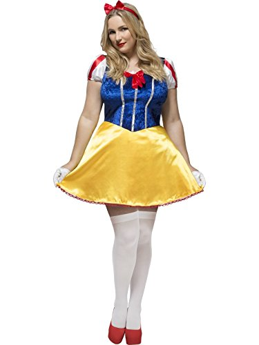 Smiffy's Women's Fever Fairy-tale Costume, Dress, Attached underskirt and Headband, Fever Curves, Plus Size 14-16, (Plus Size Fairy Tale Costumes)