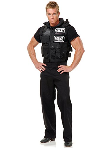Charades Swat Team Vest Adult Costume, One Size, Black for $<!--$36.99-->
