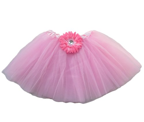 Fairy Ballet Tutu (Ballerina Basic Girls Ballet Dance Dress-Up Princess Fairy Costume Dance Recital Tutu (Gerbera Daisy Pink))