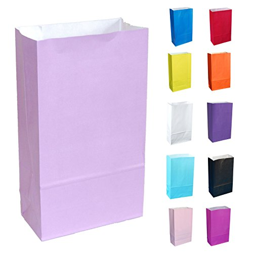 15 Flieder Papier Partytüten - wählen Sie Ihre Farbe und Menge