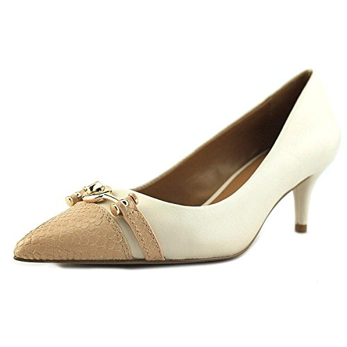 Coach Womens Lauri Pointed Toe Classic Pumps, White, Size 5.0