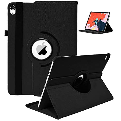 "2018 iPad Pro 11"" Case, 360 Rotating Smart Cover PU Leather with Auto Sleep/Wake [Supports Apple Pencil Charging] Stand Case for New iPad Pro 11 inch 2018 Release (Black)"