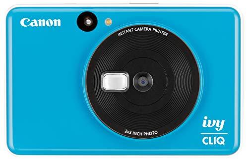 Canon IVY CLIQ Instant Camera Printer Mobile Mini Printe, Seaside Blue