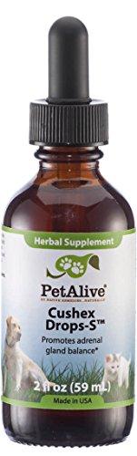 PetAlive Cushex Drops-S, Adrenal Gland Balance Herbal Pet Supplement, 2fl oz., 59ML