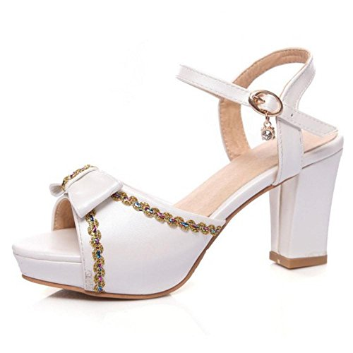 RAZAMAZA Plateforme Talons Sandales Femmes Chaussures White Hauts 9 RRwrCx